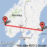Bergen (Bergen Airport, Flesland, BGO) - Stockholm (Metropolitan Area, STO)