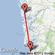 Bergen (Bergen Airport, Flesland, BGO) - Stavanger (Sola, SVG)