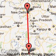 Bhopal (BHO) - Delhi (Indira Gandhi Intl, DEL)
