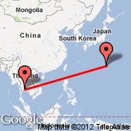 Bangkok (Suvarnabhumi International, BKK) - Iwo Jima (Iwo Jima Airbase, IWO)