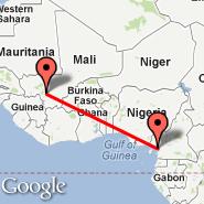 Bamako (S, BKO) - Douala (DLA)