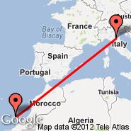Bologna (Guglielmo Marconi, BLQ) - Lanzarote (Arrecife, ACE)