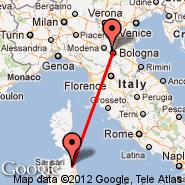 Bologna (Guglielmo Marconi, BLQ) - Olbia (Costa Smeralda, OLB)