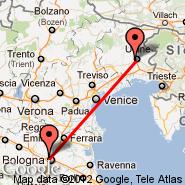 Bologna (Guglielmo Marconi, BLQ) - Udine (Airfield, UDN)