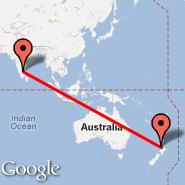 Bangalore (Bangalore International Airport, BLR) - Auckland (Auckland International, AKL)