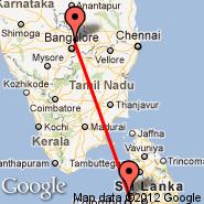 Bangalore (Bangalore International Airport, BLR) - Colombo (Bandaranayake, CMB)