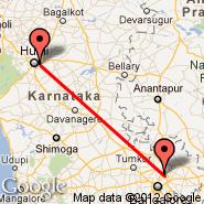 Bangalore (Bangalore International Airport, BLR) - Hubballi-Dharwad (Hubli, HBX)