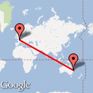 Brisbane (Brisbane International, BNE) - Pariz (Metropolitan Area, PAR)