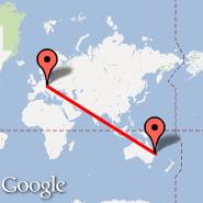 Brisbane (Brisbane International, BNE) - Prag (Prague - Ruzyne International, PRG)