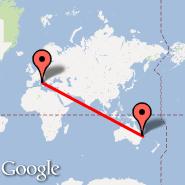 Brisbane (Brisbane International, BNE) - Rim (Metropolitan Area, ROM)