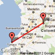 Bogota (Eldorado International, BOG) - Tumaco (La Florida, TCO)