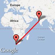Bombay/Mumbai (Chhatrapati Shivaji International, BOM) - Cape Town (Cape Town International, CPT)