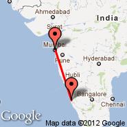 Bombay/Mumbai (Chhatrapati Shivaji International, BOM) - Mangalore (Bajpe, IXE)