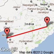 Bombay/Mumbai (Chhatrapati Shivaji International, BOM) - Rourkela (RRK)