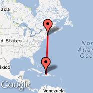 Boston (Logan International, BOS) - Cap-Haitien (Cap Haitien, CAP)