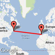 Boston (Logan International, BOS) - Gibraltar (North Front, GIB)