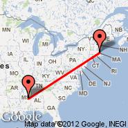 Boston (Logan International, BOS) - Louisville (Winston County, LMS)