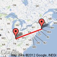 Boston (Logan International, BOS) - Louisville (Louisville International, SDF)
