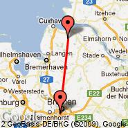 Bremen (Neuenland, BRE) - Bremerhaven (BRV)