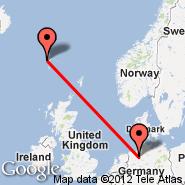 Brema (Neuenland, BRE) - Faroer/Isole (Vagar, FAE)