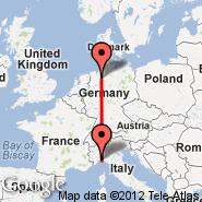 Bremen (Neuenland, BRE) - Genova (Cristoforo Colombo, GOA)