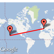 Bern (Belp, BRN) - Hilo/Big Island (Hilo International, ITO)