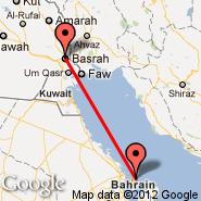 Basra (International, BSR) - Bahrein (Bahrain International, BAH)