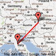 Bratislava (M. R. Štefánika, BTS) - Firenca (Peretola, FLR)