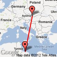 Bratislava (M. R. Štefánika, BTS) - Tripoli (International, TIP)