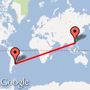 Buenos Aires (Metropolitan Area, BUE) - Hong Kong (Hong Kong International, HKG)