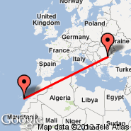 Bukurešt (Metropolitan Area, BUH) - Gran Canaria (Gran Canaria International (Gando Airport), LPA)