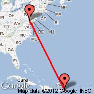 Baltimore (Baltimore/Washington International Thurgood Marshall, BWI) - Tortola/Beef Island (Beef Island, EIS)