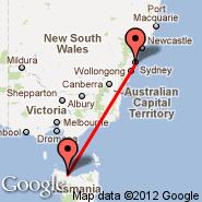 Burnie (Burnie Wynyard, BWT) - Sydney (Kingsford Smith, SYD)