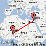 Kairo (Cairo International, CAI) - Niamey (Diori Hamani International Airport, NIM)