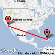 Cap-Haitien (Cap Haitien, CAP) - Los Angeles (Los Angeles International, LAX)