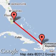 Cap-Haitien (Cap Haitien, CAP) - Miami (Miami International Airport, MIA)