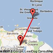 Ciudad Bolivar (Tom, CBL) - Grenada (Point Salines International, GND)