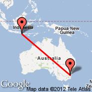 Canberra (CBR) - Denpasar/Bali (Ngurah Rai International, DPS)