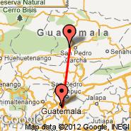 Coban (CBV) - Guatemala City (La Aurora, GUA)