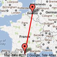 Carcassonne (Salvaza, CCF) - Bruselj (Brussels Airport, BRU)