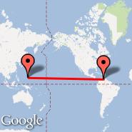 Caracas (Simon Bolivar International Airport, CCS) - Guam (Guam International, GUM)