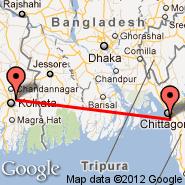 Kalkuta/Kolkata (Netaji Subhas Chandra, CCU) - Chittagong (Patenga, CGP)
