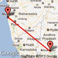 Kadapa/Cuddapah (Cuddapah, CDP) - Bombay/Mumbai (Chhatrapati Shivaji International, BOM)