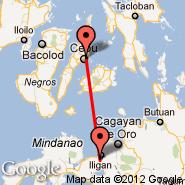 Cebu (Mactan-Cebu International, CEB) - Iligan (Maria Cristina, IGN)