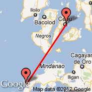 Cebu (Mactan-Cebu International, CEB) - Siocon (XSO)