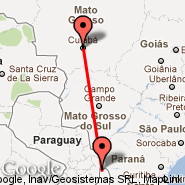 Cuiaba (Intl. Airpt. Marechal Rondon, CGB) - Iguassu Falls (Cataratas, IGU)