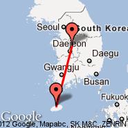 Cheongju (Cheong Ju International Airport, CJJ) - Jeju (Jeju Airport, CJU)