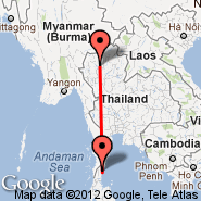 Chiang Mai (Chiang Mai International, CNX) - Chumphon (Chumphon Airport, CJM)