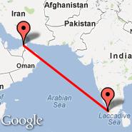 Kochi (Cochin International, COK) - Sharjah (Sharjah International Airport, SHJ)