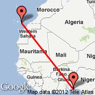 Cotonou (Cadjehoun, COO) - Gran Canaria (Gran Canaria International (Gando Airport), LPA)